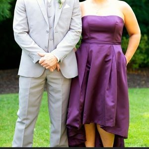 David's Bridal Plum Bridesmaid Dress
